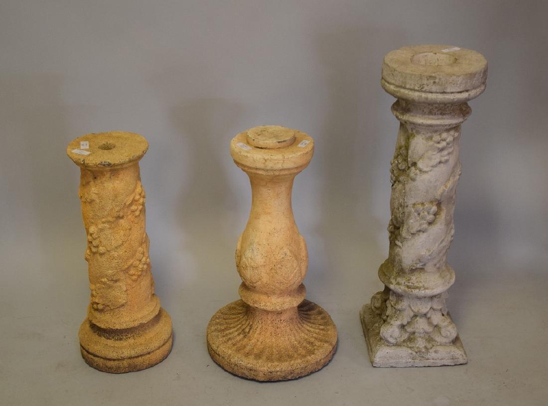 3 Pedestals, 24, 24, & 32 inches
