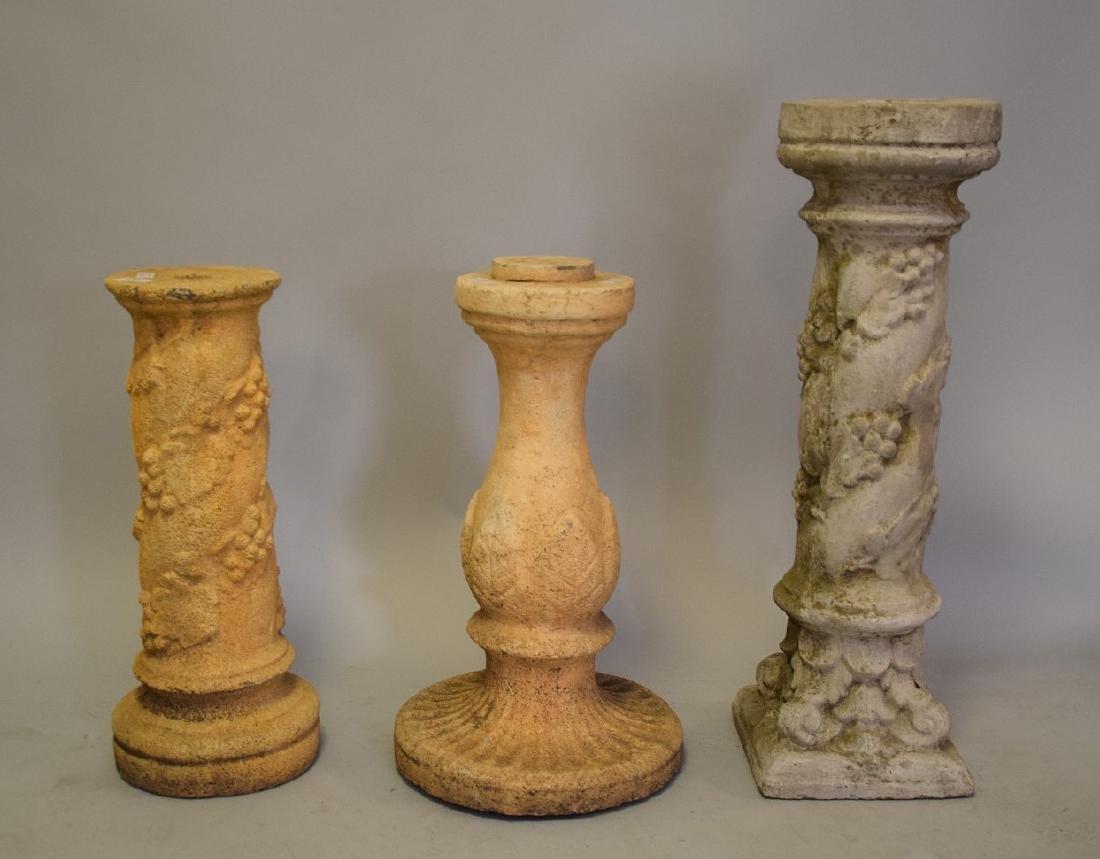3 Pedestals, 24, 24, & 32 inches - 2