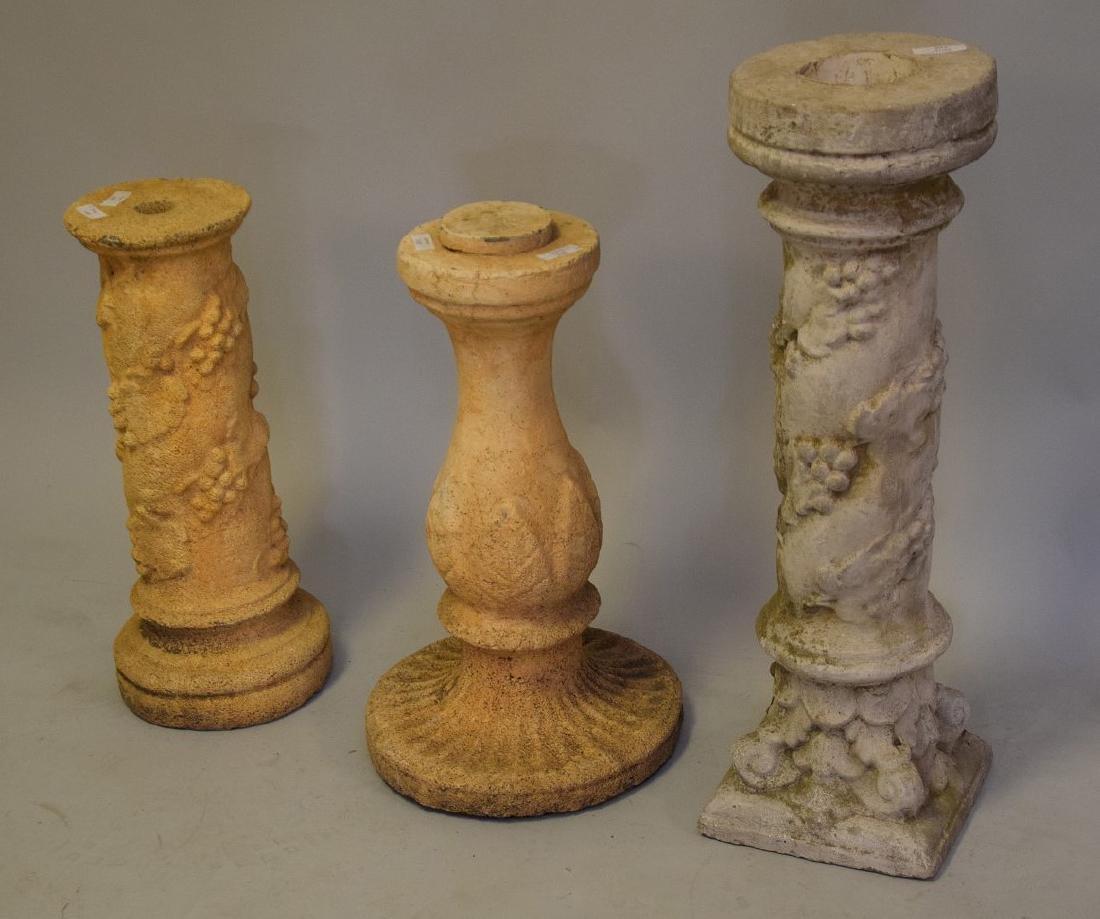 3 Pedestals, 24, 24, & 32 inches - 3