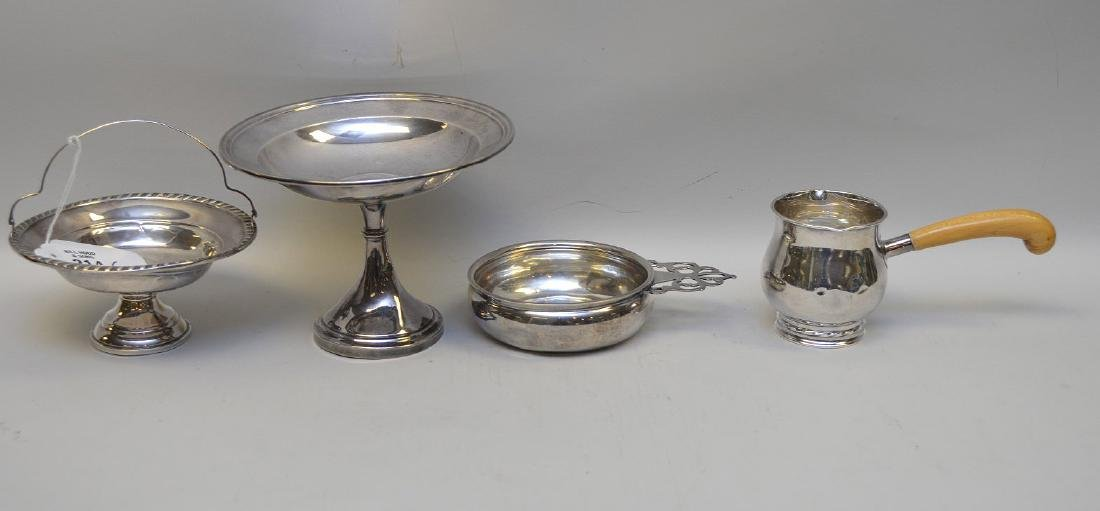 7 sterling pieces, incl 2 coasters with handles and 5 - 4
