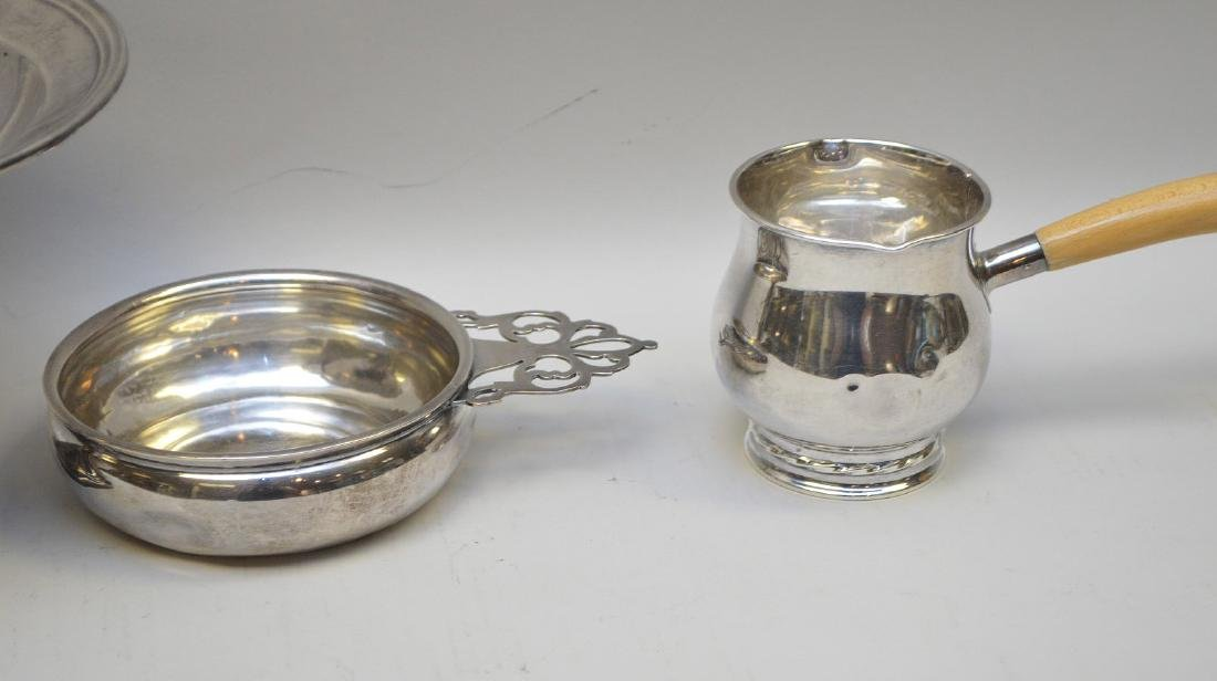 7 sterling pieces, incl 2 coasters with handles and 5 - 6