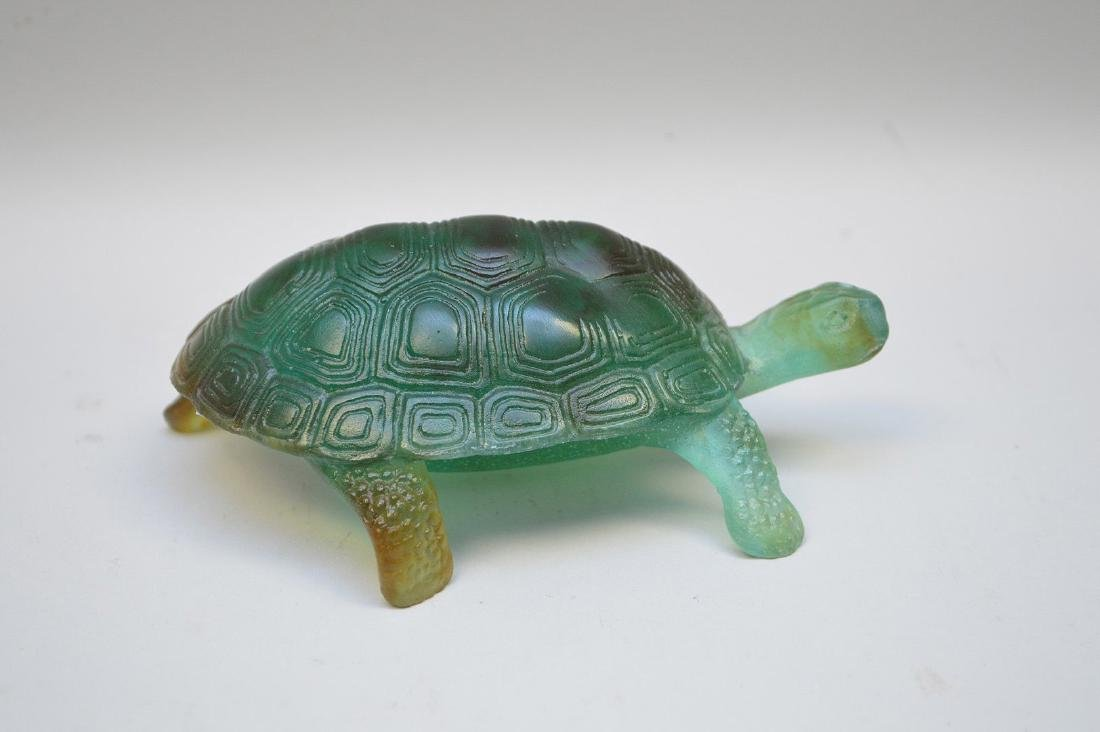 Daum France, Pate de Verre turtle, signed Daum France - 2