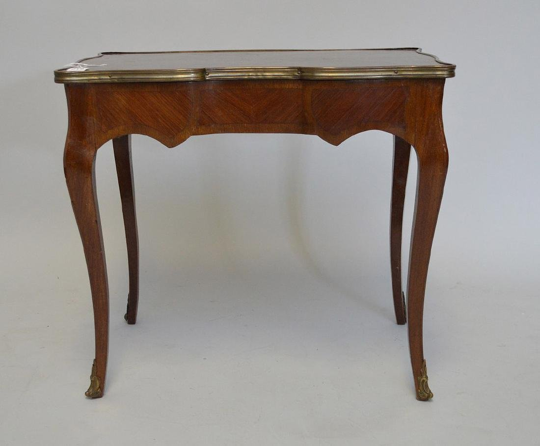 19TH CENTURY FRENCH INLAID LAMP TABLE WITH FITTED BRASS - 2