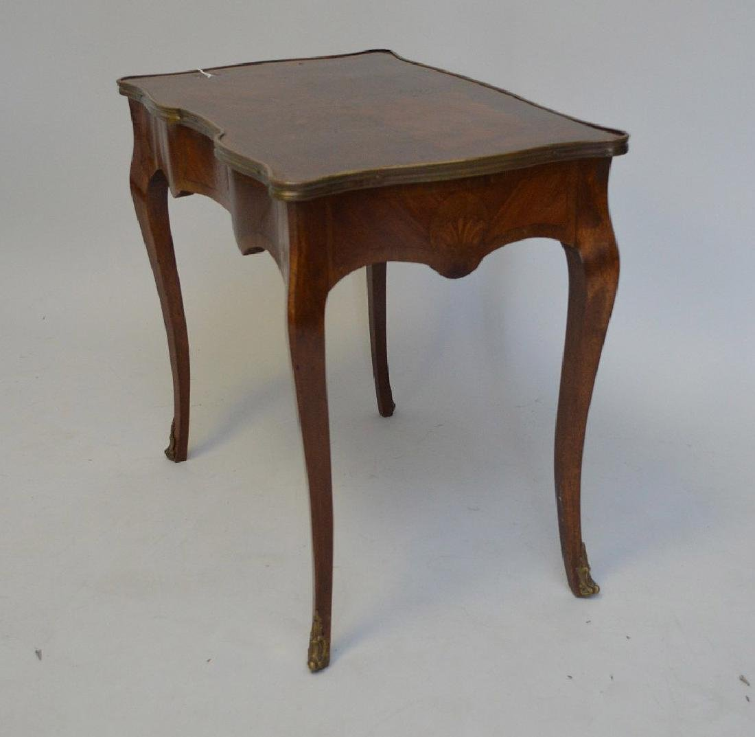 19TH CENTURY FRENCH INLAID LAMP TABLE WITH FITTED BRASS - 5