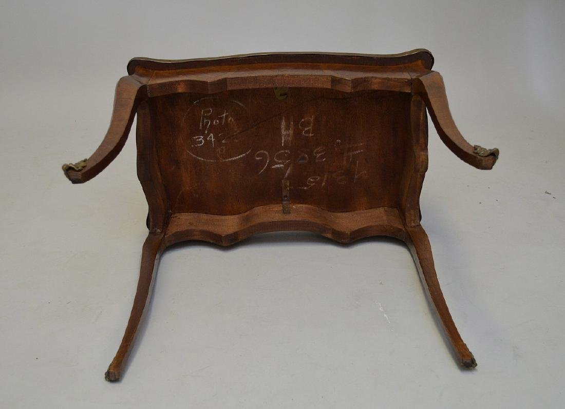 19TH CENTURY FRENCH INLAID LAMP TABLE WITH FITTED BRASS - 6
