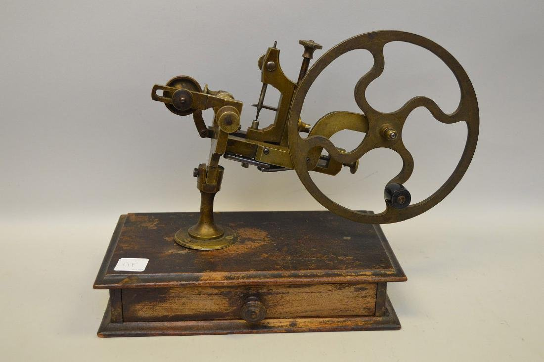 Novelty 19th c. brass jewelers mounted equipment