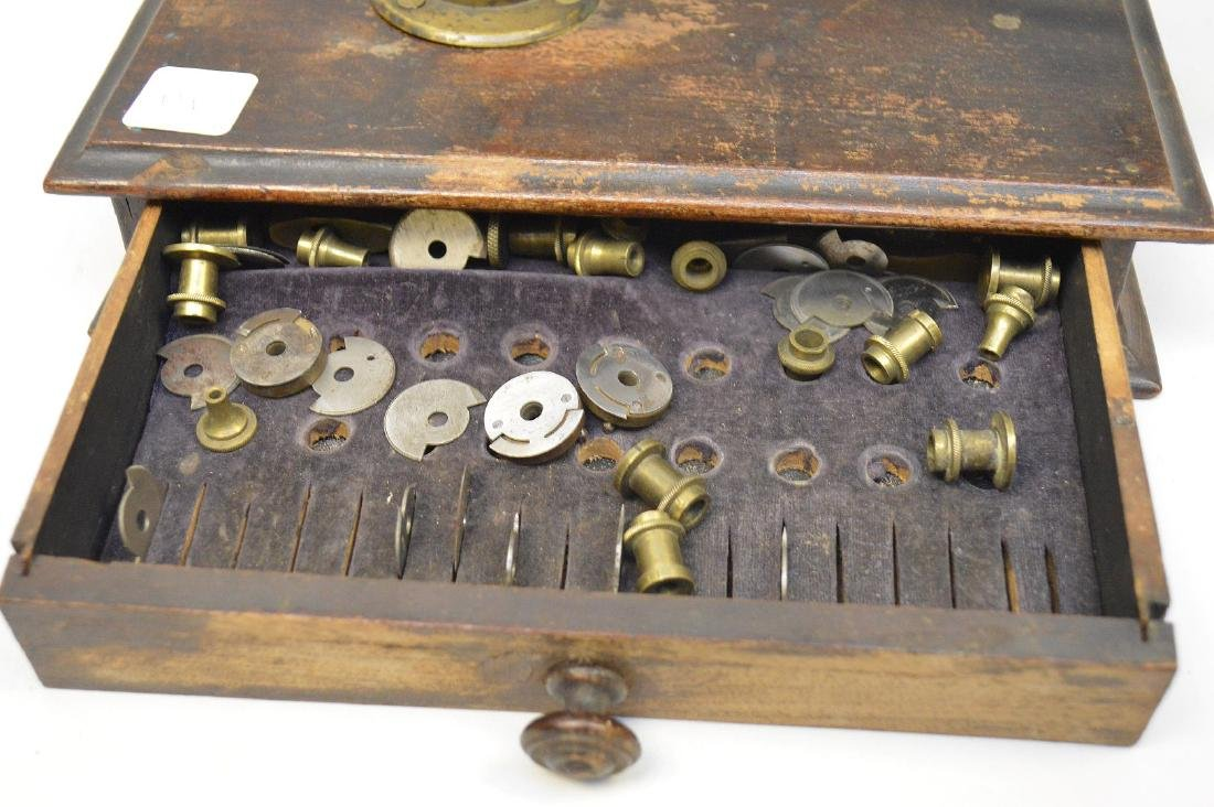 Novelty 19th c. brass jewelers mounted equipment - 3