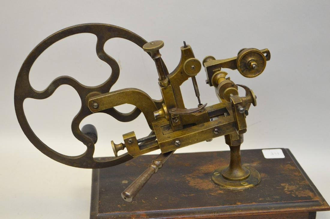 Novelty 19th c. brass jewelers mounted equipment - 4