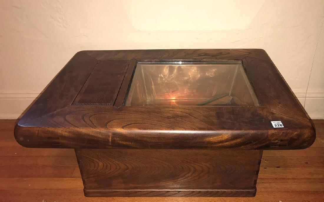 DANISH MODERN TEAK *CELERETTE* TABLE, with custom glass