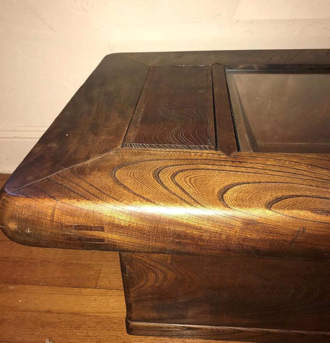 DANISH MODERN TEAK *CELERETTE* TABLE, with custom glass - 2