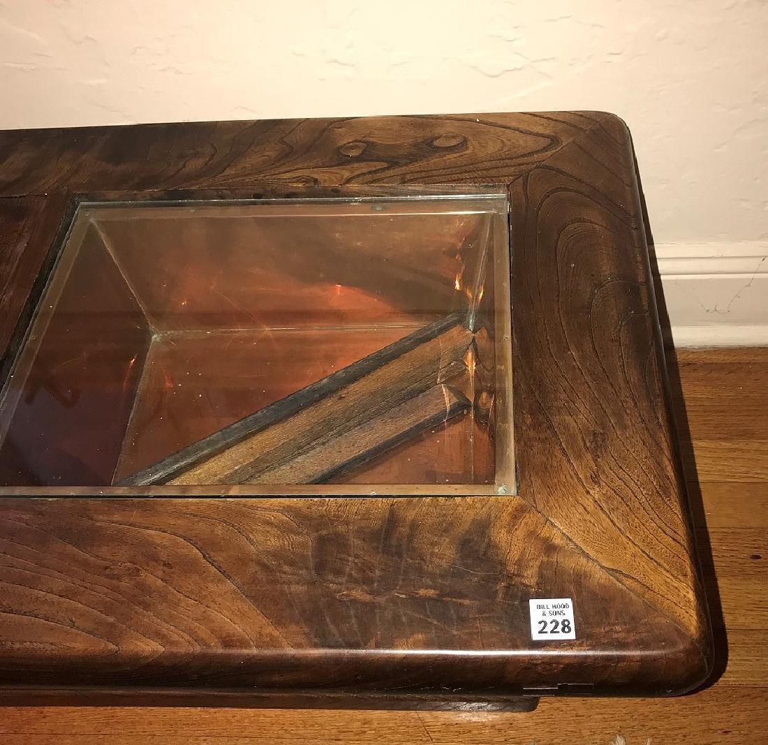 DANISH MODERN TEAK *CELERETTE* TABLE, with custom glass - 3