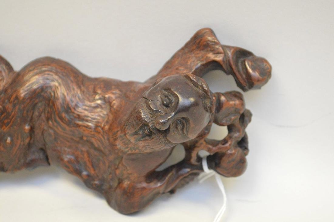 JAPANESE ROOT WOOD SCULPTURE OF A SCHOLAR - Condition: - 3