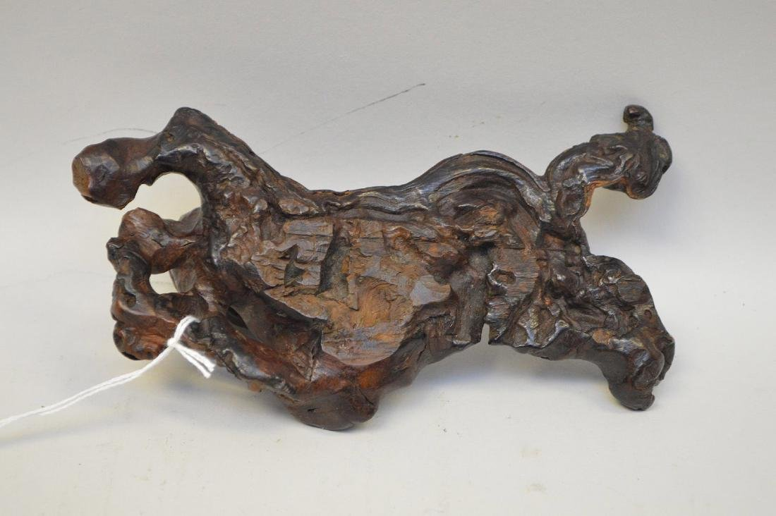 JAPANESE ROOT WOOD SCULPTURE OF A SCHOLAR - Condition: - 4