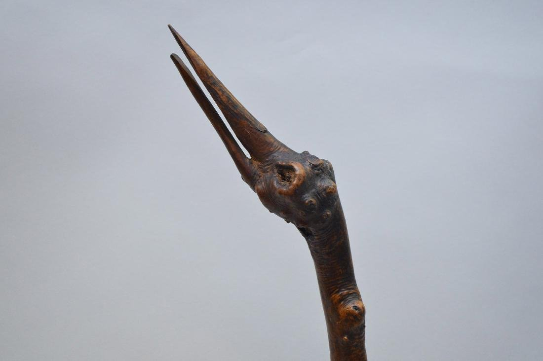 JAPANESE ROOT WOOD SCULPTURE OF A STORK - Condition: - 2