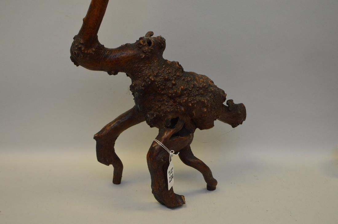 JAPANESE ROOT WOOD SCULPTURE OF A STORK - Condition: - 5