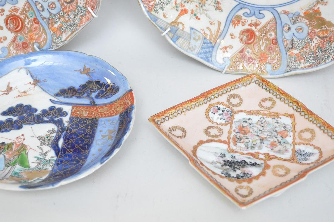 LOT OF 6 JAPANESE PORCELAIN ARTICLES- Includes: a - 3