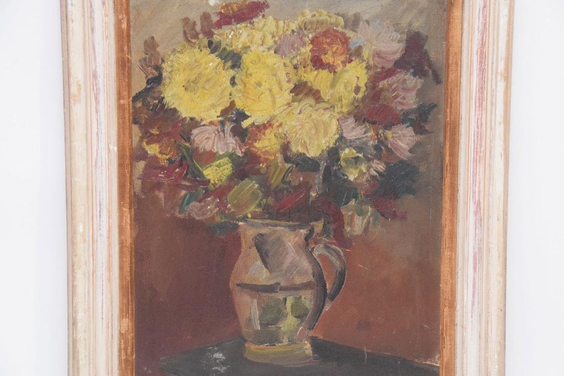 20th Century Oil on artists board, Depicts still life - 2