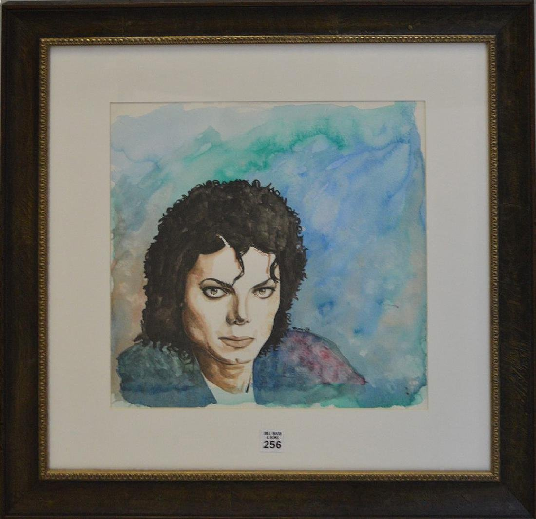 Jane Wyman  (USA 1917 - 2007) Michael Jackson Painting,