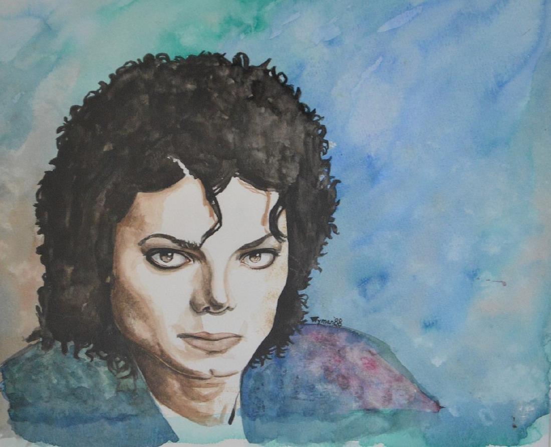 Jane Wyman  (USA 1917 - 2007) Michael Jackson Painting, - 2