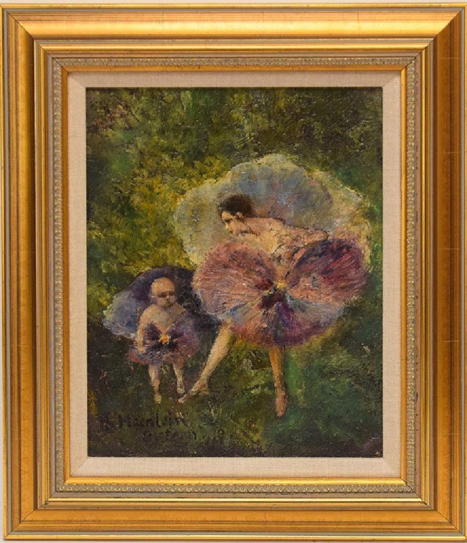 August Haenlein  (20th century) oil on canvas,