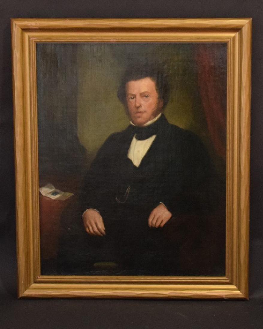 19th Century Portrait of a Gentleman in black coat,