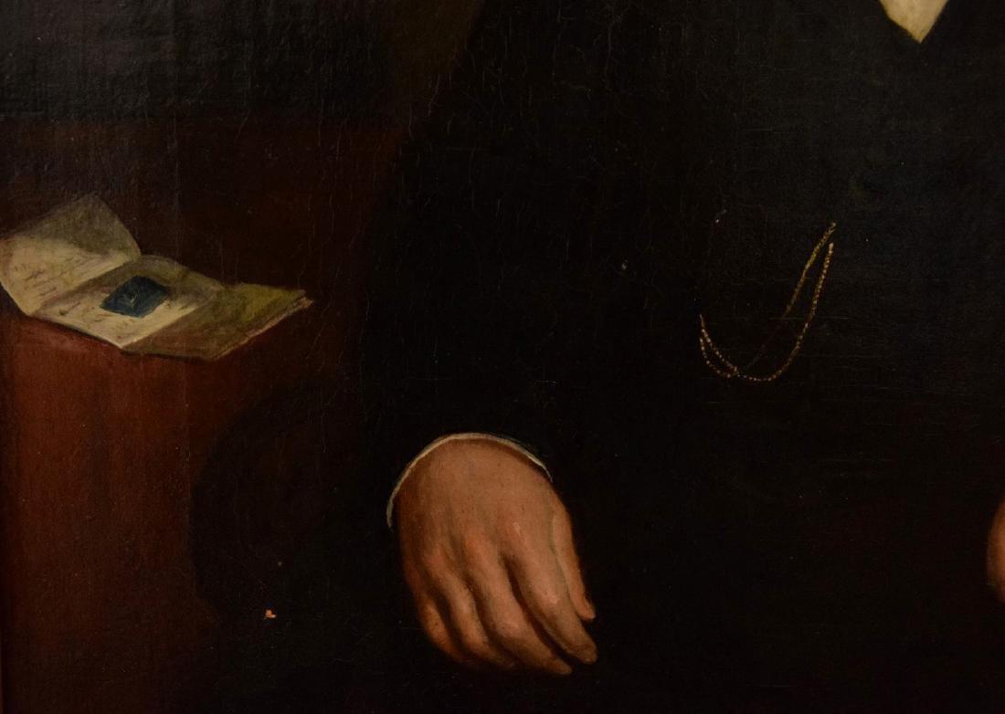 19th Century Portrait of a Gentleman in black coat, - 2