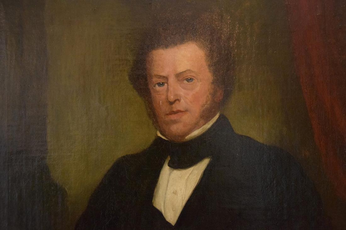 19th Century Portrait of a Gentleman in black coat, - 3