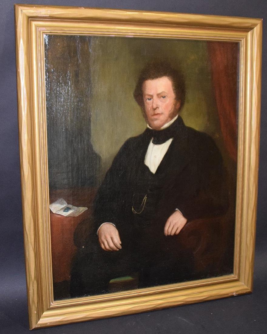 19th Century Portrait of a Gentleman in black coat, - 4