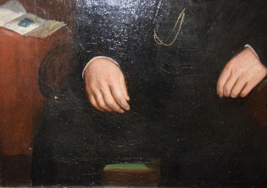 19th Century Portrait of a Gentleman in black coat, - 5