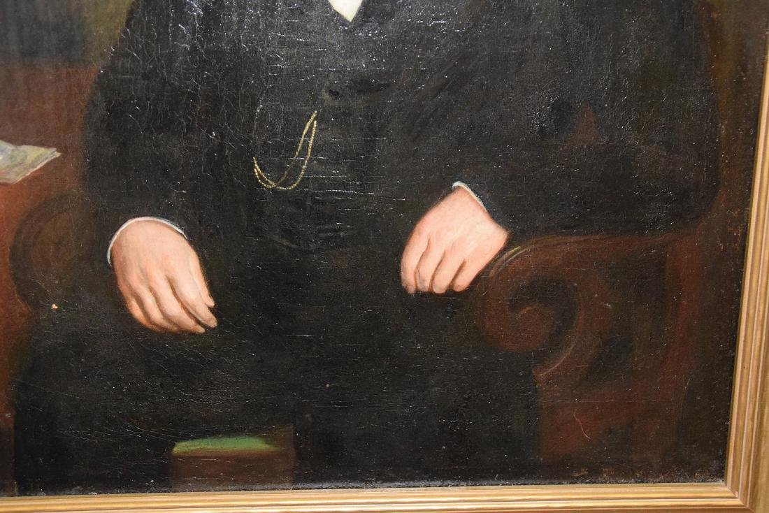 19th Century Portrait of a Gentleman in black coat, - 6