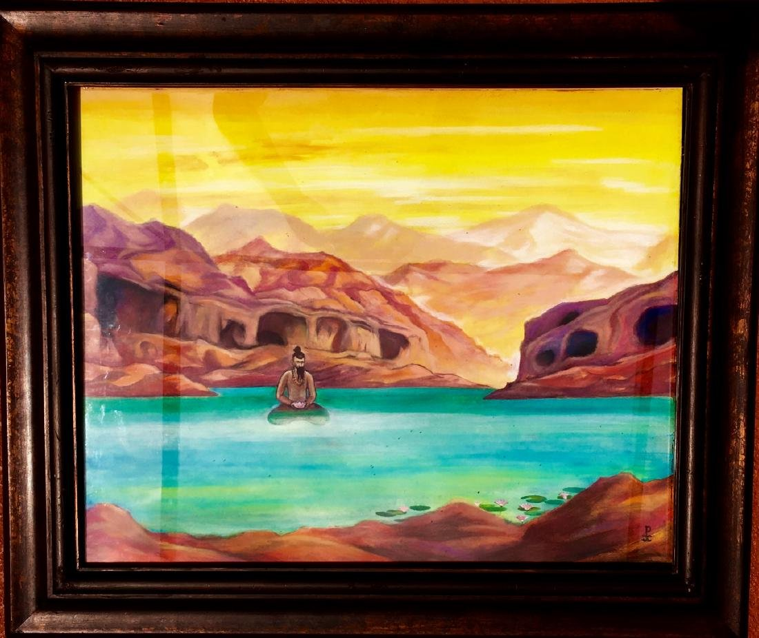 Russian Painting Attributed to Nikolai Roerich