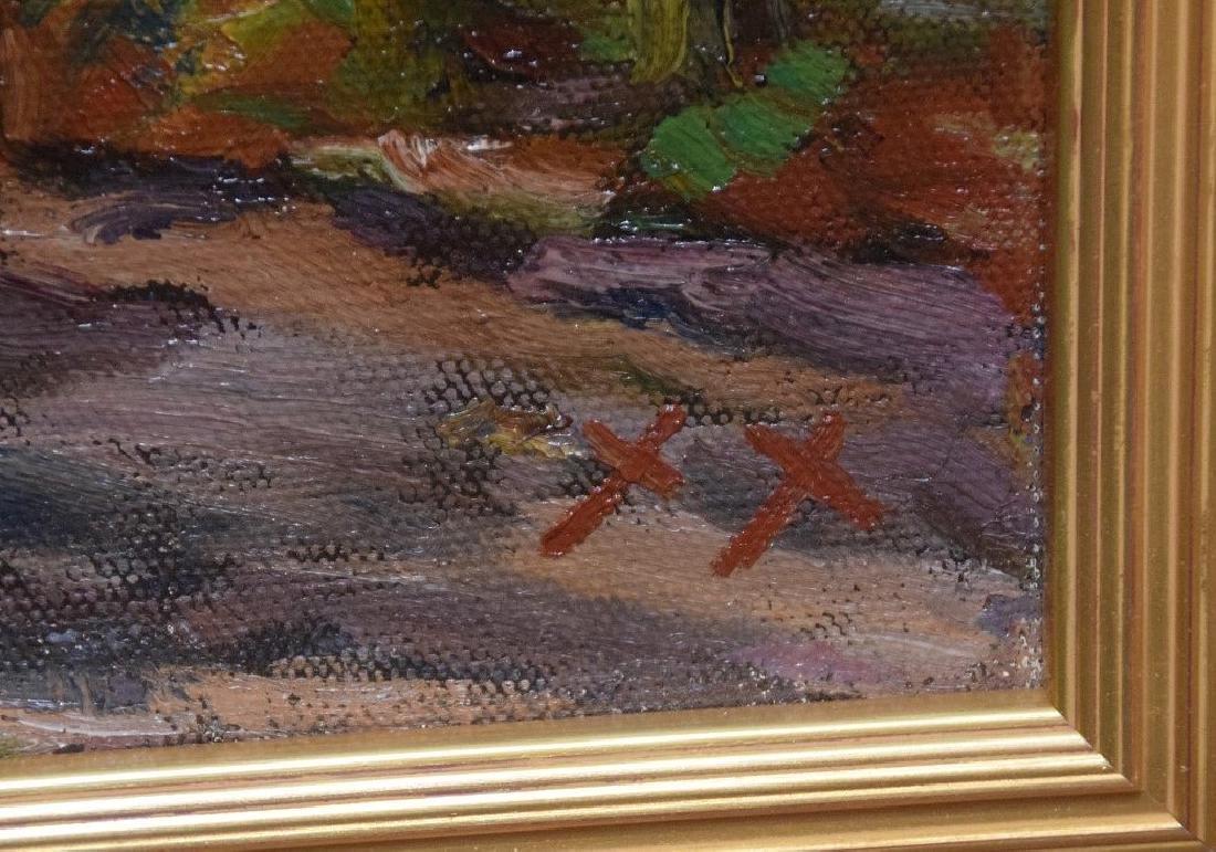 Russian Landscape cottages , oil on canvas, 20 x 26 - 3