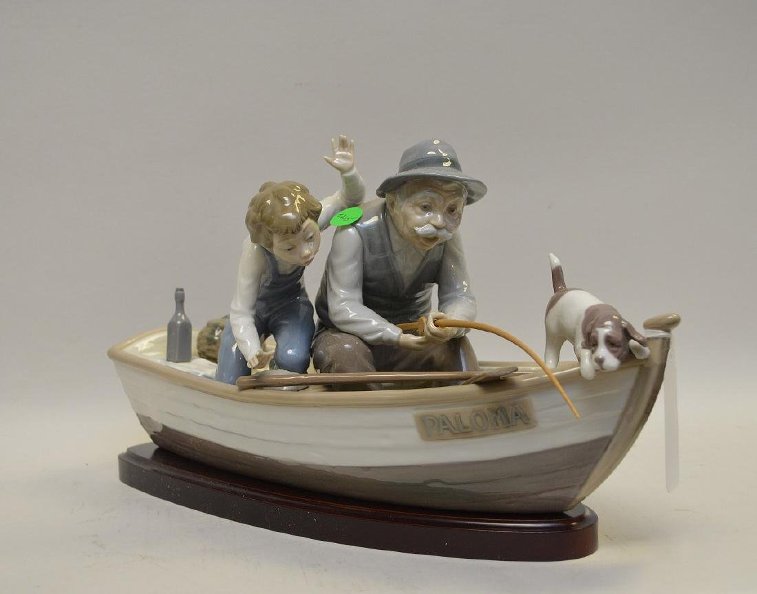 Lladro Spain Porcelain Sculptures #5215, with wooden - 2