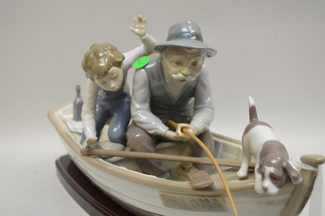 Lladro Spain Porcelain Sculptures #5215, with wooden - 3