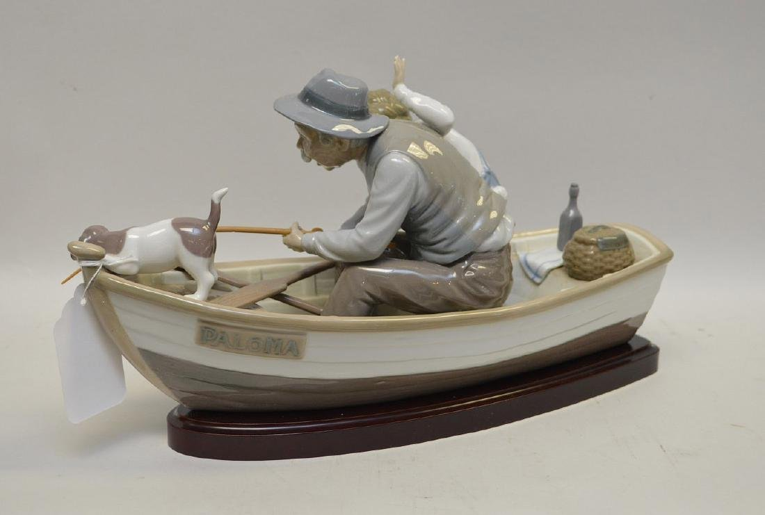 Lladro Spain Porcelain Sculptures #5215, with wooden - 4