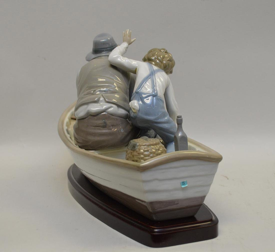 Lladro Spain Porcelain Sculptures #5215, with wooden - 5