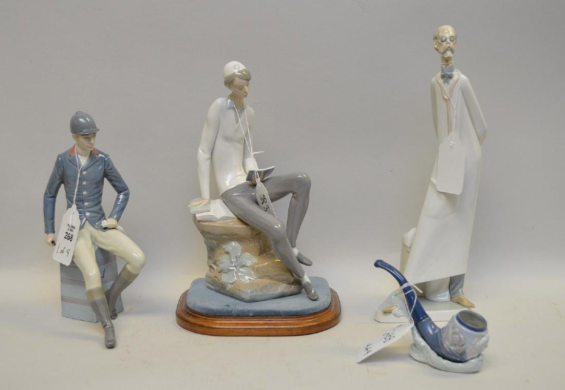 Lot of FOUR Lladro Spain Porcelain Sculptures: (1)