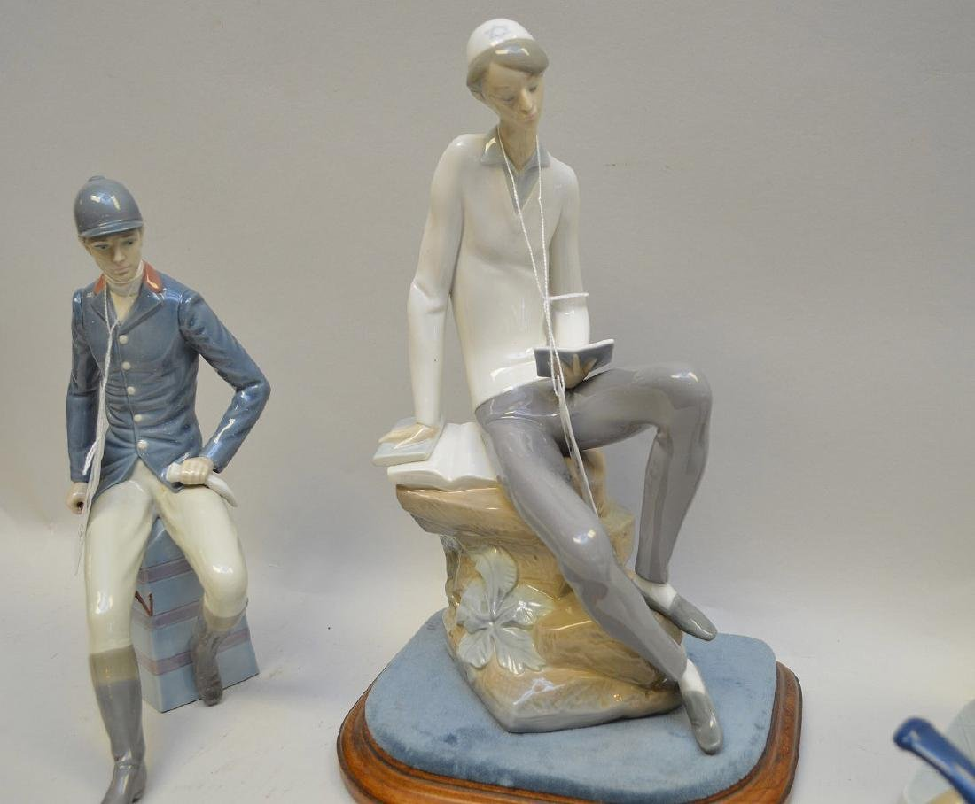Lot of FOUR Lladro Spain Porcelain Sculptures: (1) - 3
