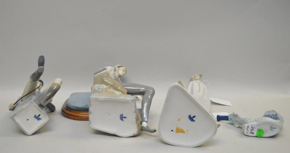 Lot of FOUR Lladro Spain Porcelain Sculptures: (1) - 6