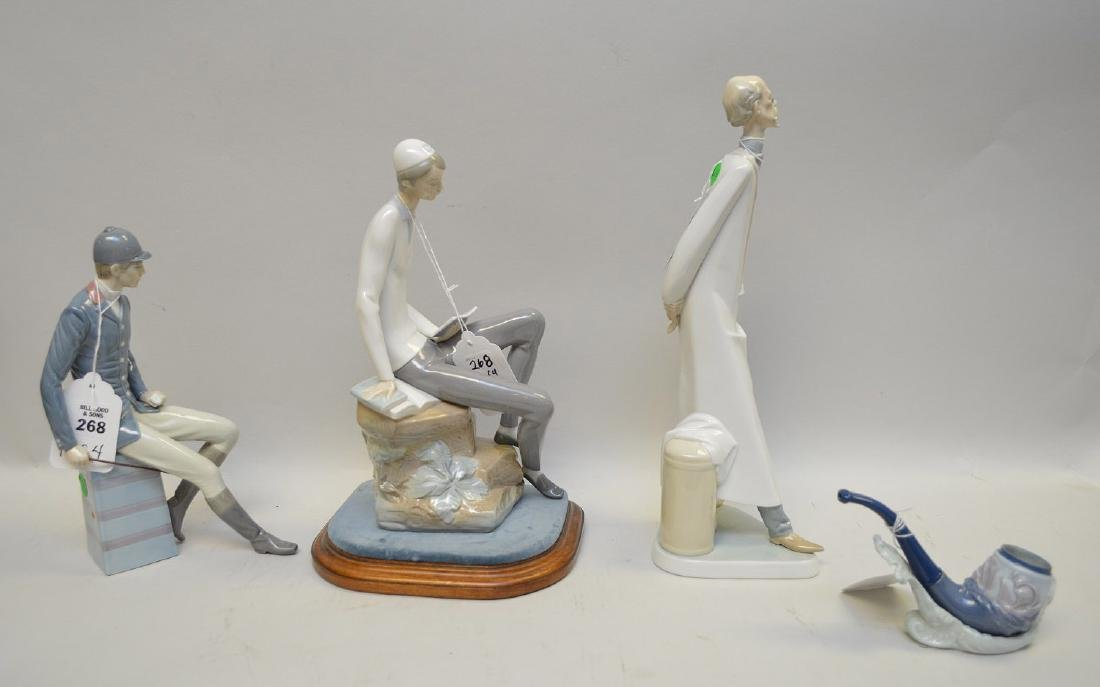 Lot of FOUR Lladro Spain Porcelain Sculptures: (1) - 8