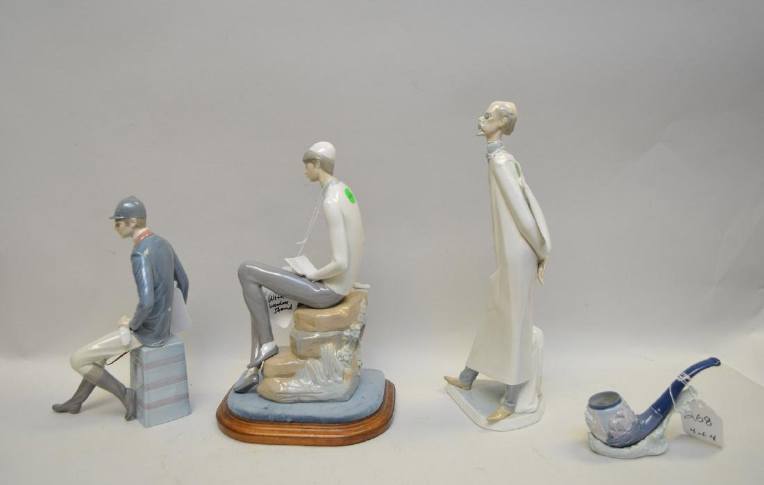 Lot of FOUR Lladro Spain Porcelain Sculptures: (1) - 9