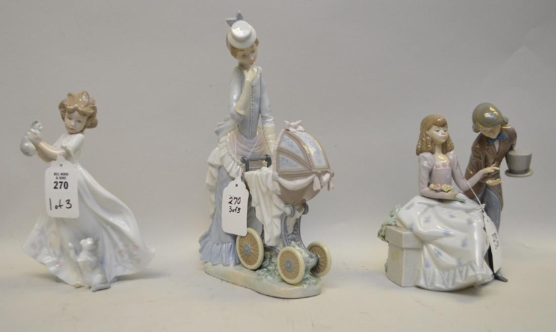 Lot of THREE Lladro Spain Porcelain Sculptures: (1) - 2