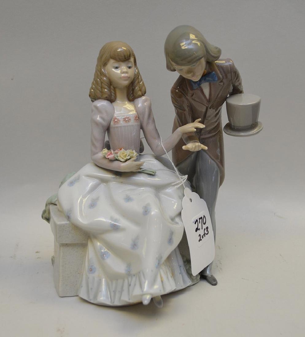 Lot of THREE Lladro Spain Porcelain Sculptures: (1) - 3