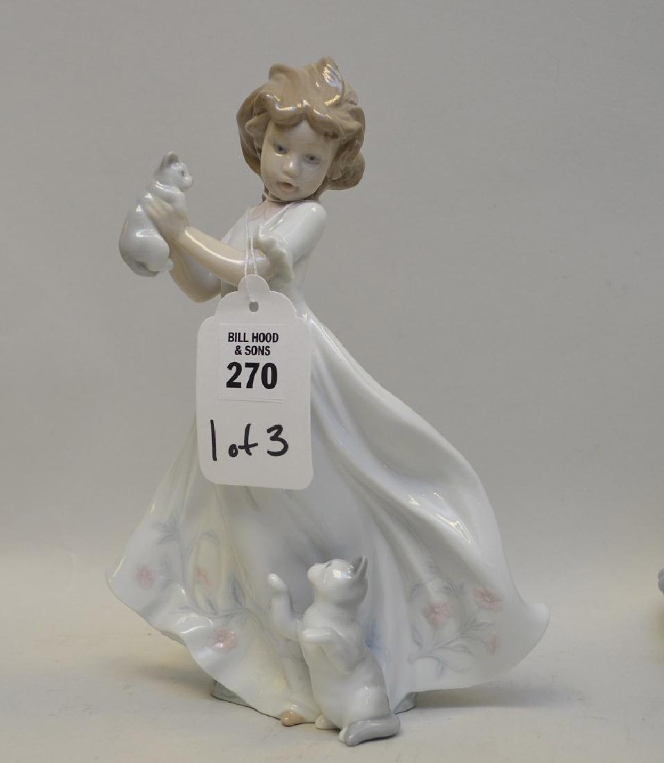 Lot of THREE Lladro Spain Porcelain Sculptures: (1) - 5