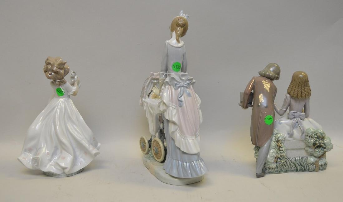 Lot of THREE Lladro Spain Porcelain Sculptures: (1) - 6