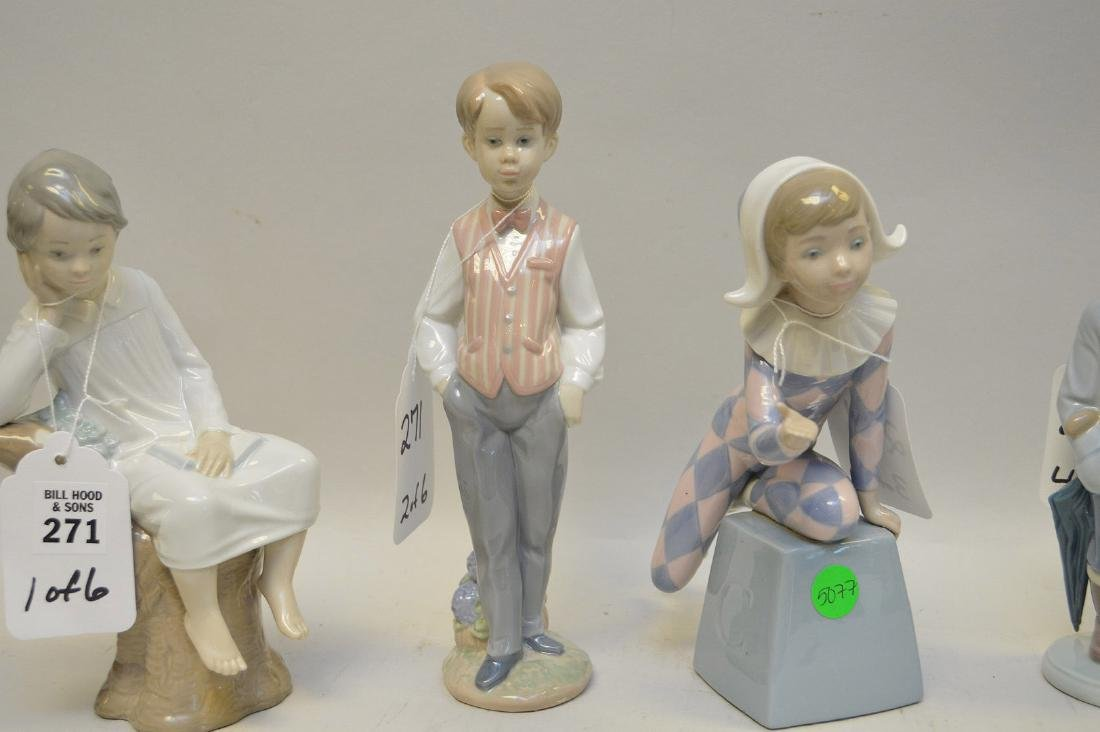 Lot of SIX Lladro Spain Porcelain Sculptures: (1) #4876; - 6