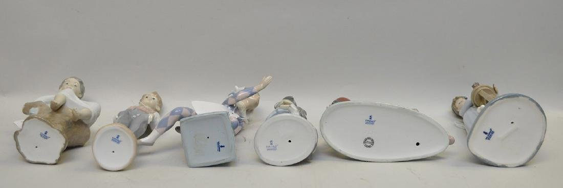 Lot of SIX Lladro Spain Porcelain Sculptures: (1) #4876; - 9