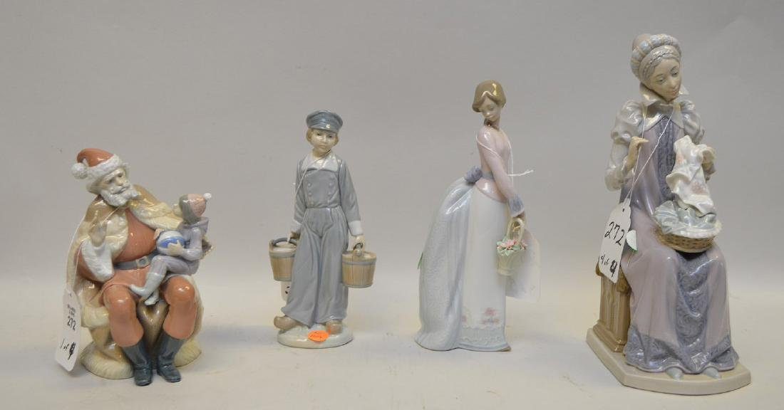 Lot of FOUR Lladro Spain Porcelain Sculptures: (1)