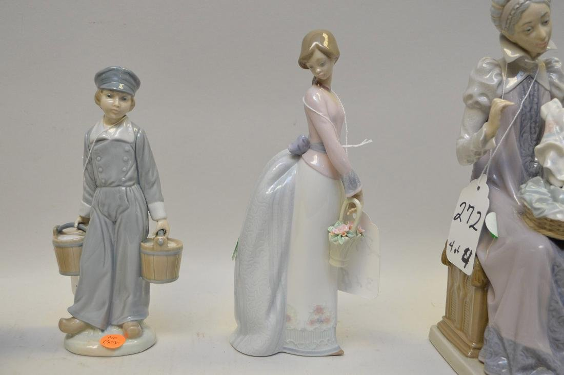 Lot of FOUR Lladro Spain Porcelain Sculptures: (1) - 4
