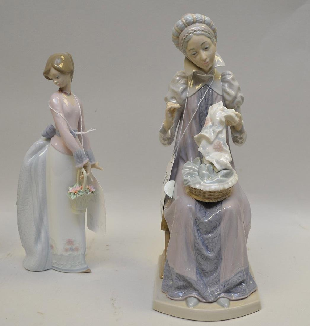 Lot of FOUR Lladro Spain Porcelain Sculptures: (1) - 5